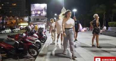Pattaya Seaside- red gentle situation, Nightlife, walking motorway, clubs, celebration, thailand Nightlife walking