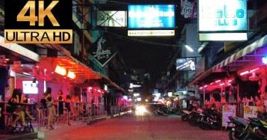 Pattaya 4K NightWalk 2021 Mar 15th. Seaside Avenue Soi 6, Soi 3, Terminal 21 Pattaya, 2nd Avenue.