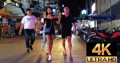 Pattaya 4K Evening Stroll 2021 Apr 2th. Soi Bua Khao, Seaside Boulevard, Treetown, Soi Made in Thailand.