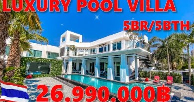 ROOF21 Presents – LUXURY 5BR/5BTH Pool Villa for SALE in Pattaya – Thailand – S-0288