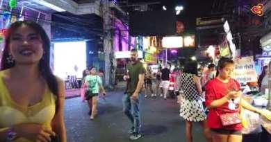 Hot Girls Waling Toll road in Pattaya Thailand (hd)
