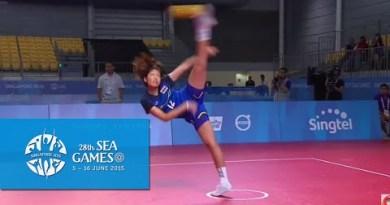 Sepaktakraw Ladies folks's Regu Semi-last Thailand vs Vietnam (Day 8)   28th SEA Video games Singapore 2015