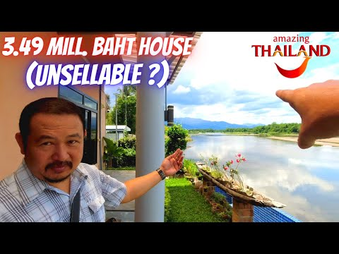 FOR SALE ! 3.49 Million Baht/$115K Riverside Home In North Thailand.