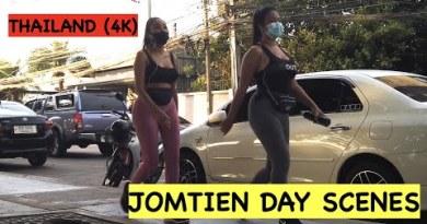 Pattaya Day Scenes Vlog: An Evening On Jomtien Seaside Street In Thailand