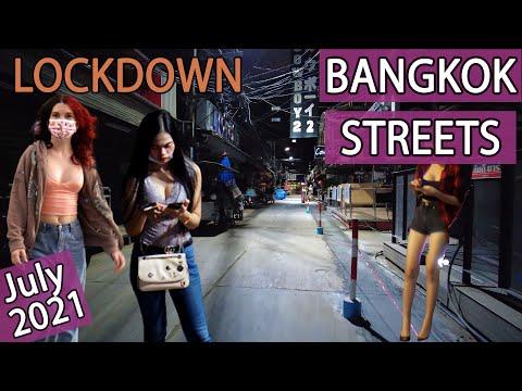 Bangkok Streets Night Scenes on 2 July 2021   Vlog 84 Bangkok Update