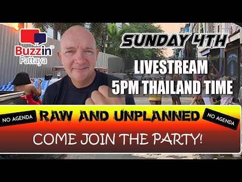 RAW & Unplanned Pattaya Chat Show. Approach join this lighthearted present all about lifestyles in Pattaya City