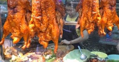 Avenue Food in Bangkok, Thailand. Greatest Chinese Stalls of Yaowarat Avenue