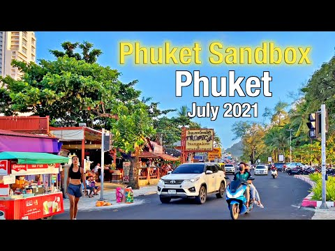 PATONG BEACH Phuket July 2021 – Bangla Twin carriageway – Coastline Twin carriageway