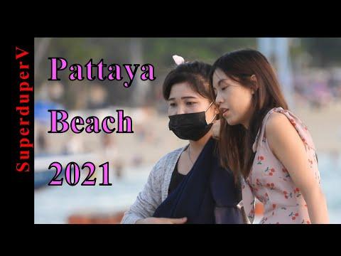 Pattaya Seaside Scenes. Thailand, June, 2021