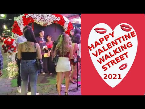 Valentines on Walking Dual carriageway, Pattaya February 2021, Romantic Bubbles within the air, plant life in each single diagram