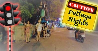 Pattaya, Thailand. Soi Buakhao NIGHT TIME, Pattaya Sea proceed Road and Soi Honey.