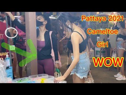 Pattaya Thailand April 2021 Girls – WOW Sea budge Toll road Camel toe