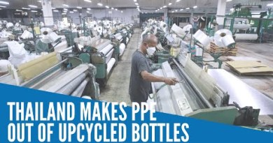 Thailand makes PPE out of upcycled bottles
