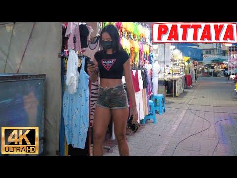 [4K] Pattaya Slip, Beach Street, Soi 7, Soi New Plaza, Soi Buakhao, Pattaya Tai