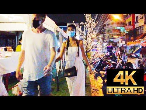 Pattaya 4K Trek.  Soi Bua Khao,Soi Diana, on a Rain Friday Evening,Tenth Sep.