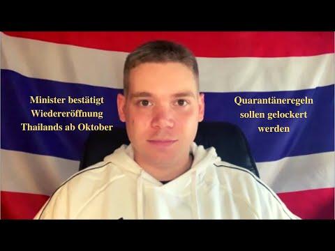 Thailand – Wiedereröffnung Thailands ab Oktober bestätigt / Quarantäne-Lockerungen uvm. / 14.09.2021