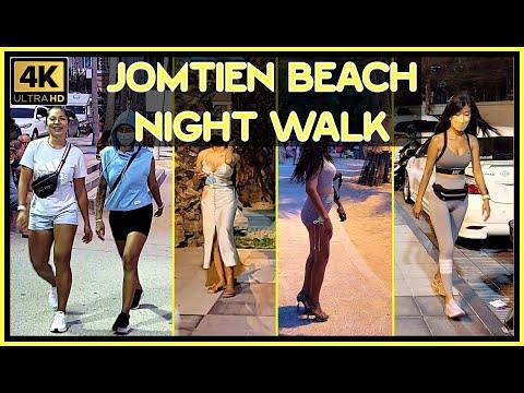 Jomtien Seaside Night Stroll September 2021 4K Extremely HD Pattaya Thailand