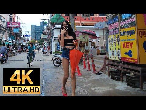 Pattaya 4K Stroll Sunday Evening. Soi Bua Khao, Soi Diana, nineteenth Sep.