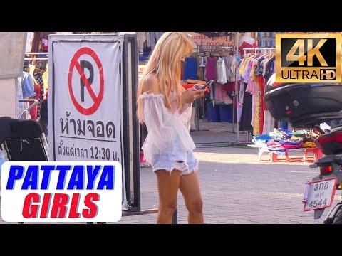[4K] Pattaya Scenes , Seaside Twin carriageway & Soi Buakhao #8