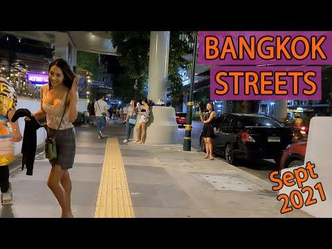 Bangkok Lockdown Update – Streets Night Scenes at Sukhumvit avenue | September 2021