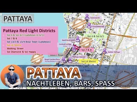 GERMAN, Deutsch, Pattaya, Thailand, Nightlife, Bars, Scheme, Strolling Boulevard, Karte, Women, Metro, Soi 6
