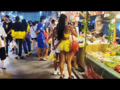 Pattaya Night Market Scenes, Thailand 2021