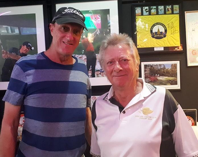 (L to R) Buffalo Bill Steinmann & winner Kissy Buchanan.