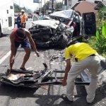 Pick-Up crashes into TOUR BUS leaving FOUR dead