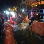 Teens seriously hurt as bike goes down Pattaya sink hole