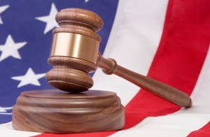 American flag and gavel