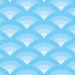 優しい水色を使用した波型のパターン