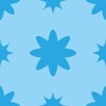 水色の花柄のような模様のパターン