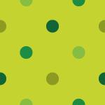 4色の緑色の丸が配置されたのドットパターン