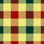 赤・黄・緑の格子柄、ガンクラブチェックのパターン