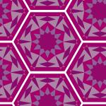 紫のアラベスク柄パターン