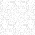 白ベース薄っすら見えるアラベスク柄パターン