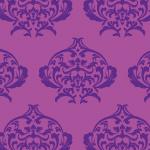 紫ベースのダマスク柄パターン