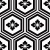 白黒の亀甲柄パターン