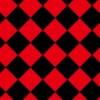 赤と黒のハーリキンチェック