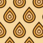 オレンジと茶色のレトロパターン