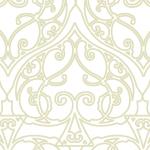白と薄いベージュのスペード柄のアラベスクパターン