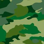 緑ベースの迷彩柄パターン