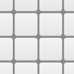 白いタイルのようなパターン