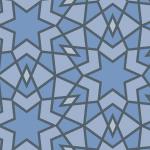 青いアラベスク柄パターン