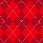 ワインレッドベースのアーガイルチェックパターン