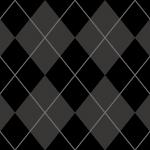 黒ベースのアーガイルチェック柄パターン