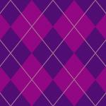 紫色のアーガイルチェックパターン