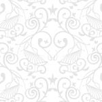 ホワイト系の西洋柄アラベスク風パターン