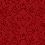 深い赤色の西欧風パターン