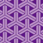 紫ベースの組亀甲柄パターン